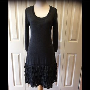 Flirty Calvin Klein Day to Evening Wool Knit Dress